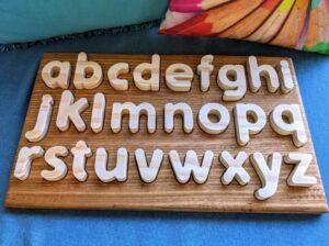 wooden kids alphabet toy