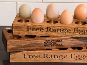timber egg holder